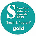 Bentley Organic wins Free From Skincare Gold Award 2015