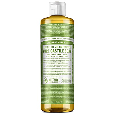 Dr. Bronner's Green Tea Castile Liquid Soap - 473ml