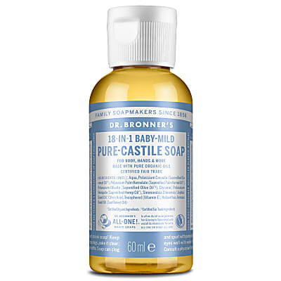 Dr. Bronner's Baby Mild Unscented Castile Liquid Soap - 59ml