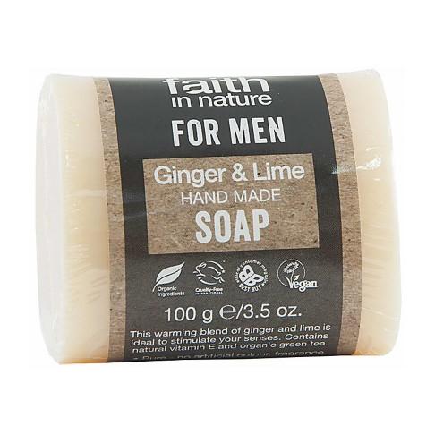 Faith in Nature for Men Ginger & Lime Soap Bar