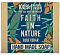 Faith in Nature for Men Blue Cedar Soap Bar