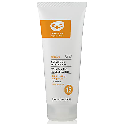 Green People Natural Edelweiss Sun Lotion SPF 15 with Tan Accelerator
