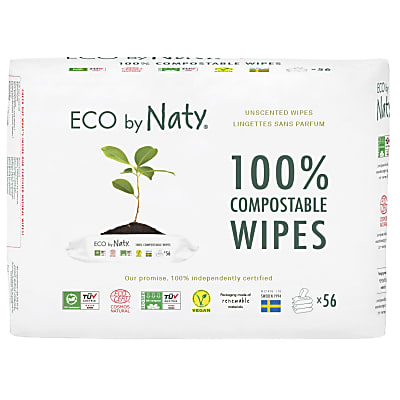Naty by Nature Wipes Unscented Triple Pack 3 x 56's
