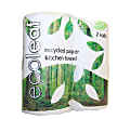 100% Recycled Paper Kitchen Roll - twin pack