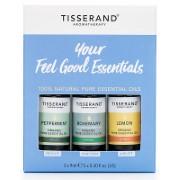 Tisserand Essential Oils (Lemon, Rosemary, Peppermint)