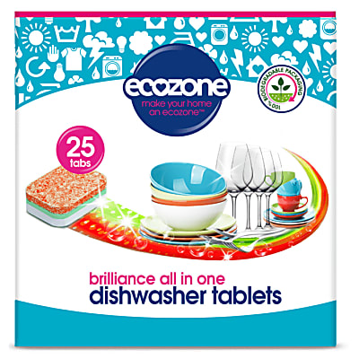 Cleaning Products Ecozone Brilliance All In One Dishwasher Tablets - 25
