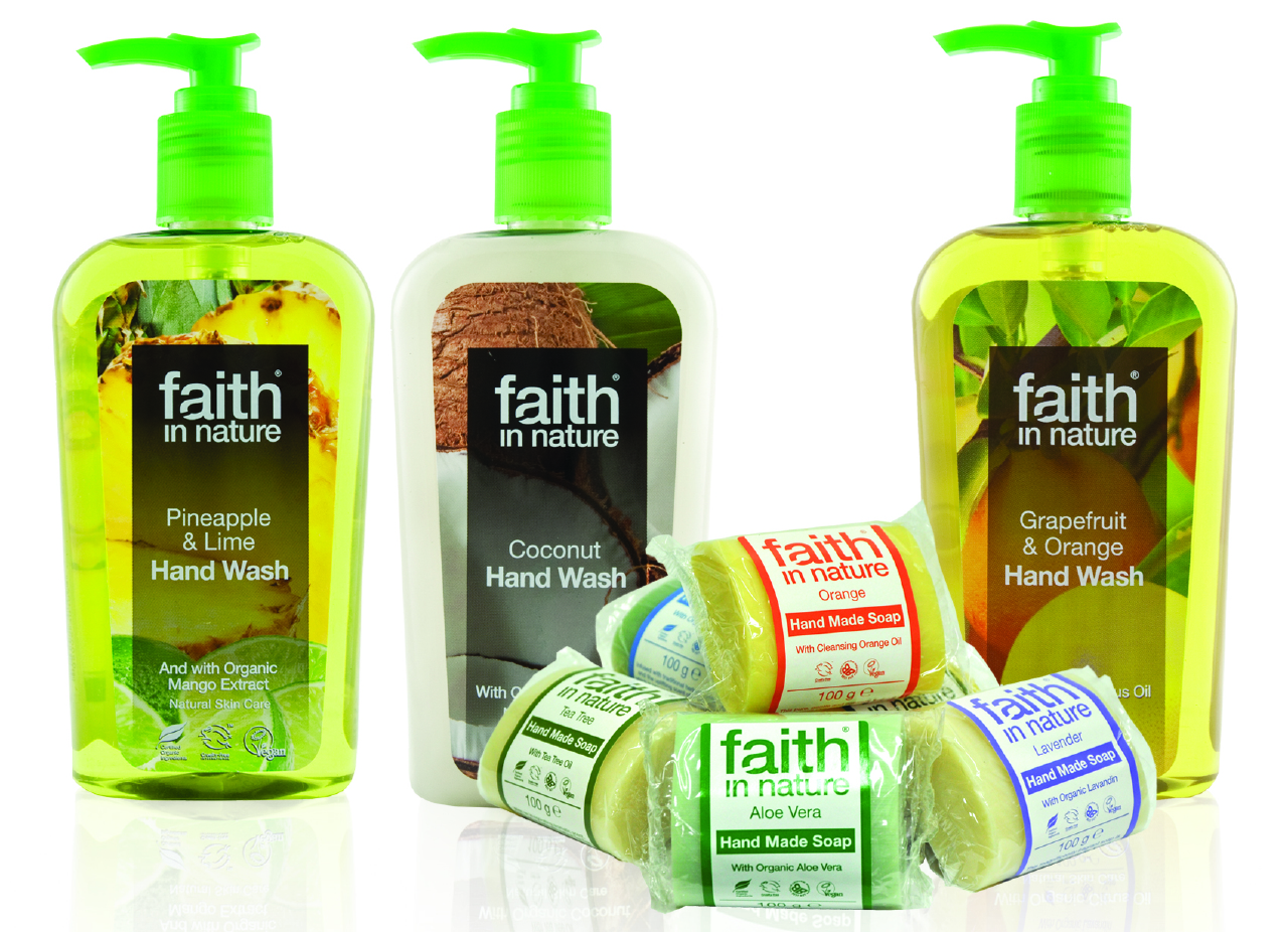 faith in nature triclosan free soaps