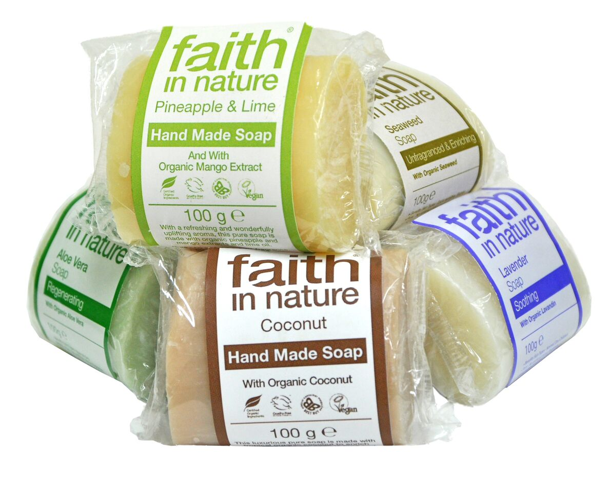 Faith in nature vegan soaps