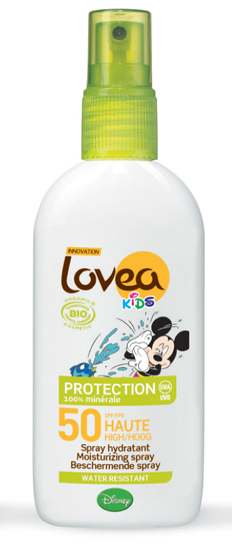 Lovea Organic Kids Sunscreen Spray SPF50