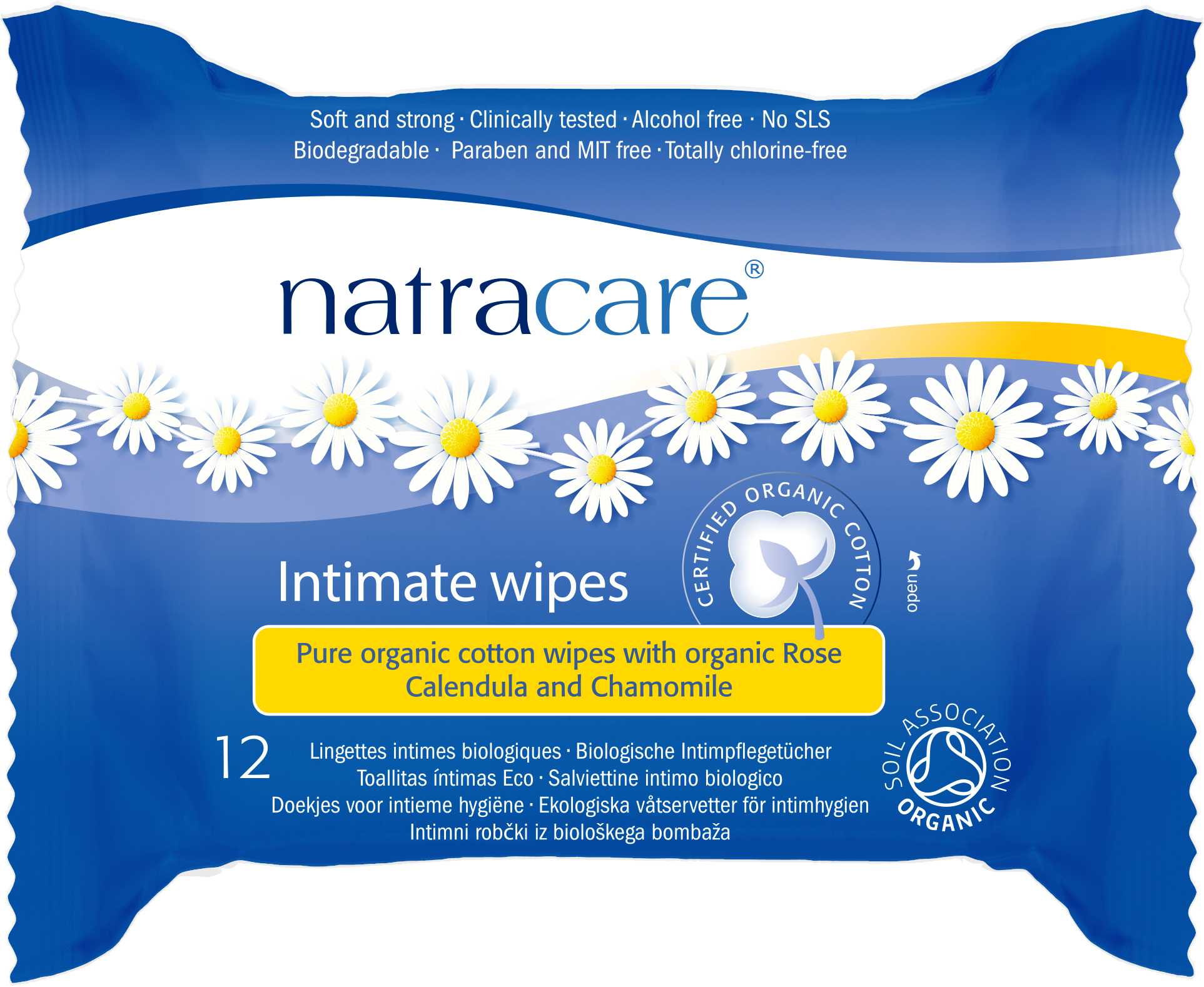 Natracare feminine wipes