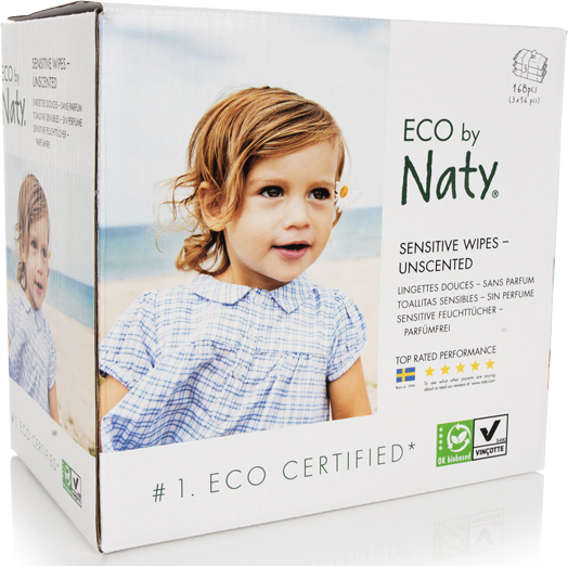 Naty triple pack of wipes