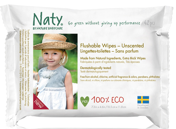 naty biodegradable wipes
