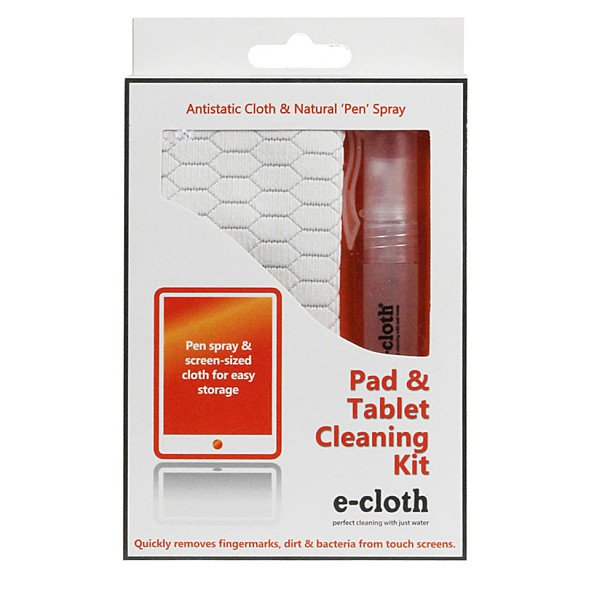 E-cloth for cleaning tablets