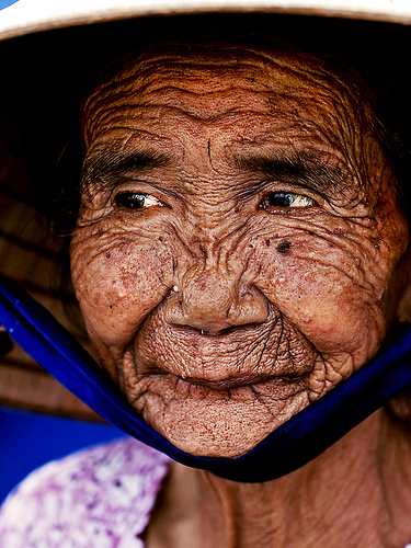 Beautiful aged face