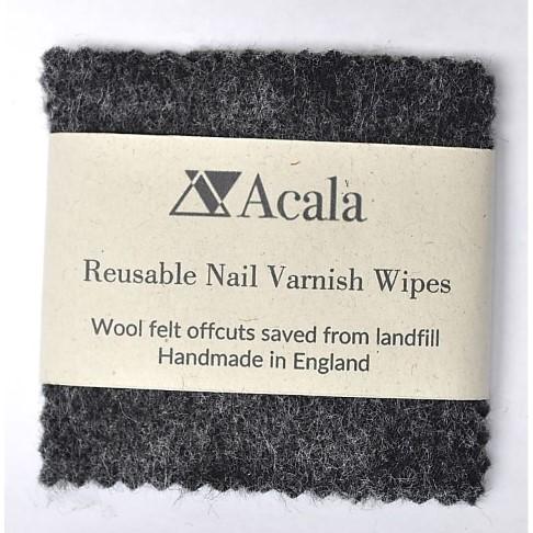 Acala Reusable Organic Wool Nail Varnish Wipes