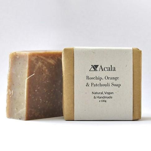 Acala Rosehip, Orange and Patchouli Soap