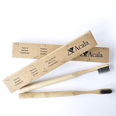 Acala Bamboo Toothbrush with charcoal bristles (single)
