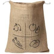 AH! Table! Burlap bag with organic cotton drawstring -  Medium