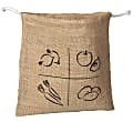 AH! Table! Burlap bag with organic cotton drawstring - Small