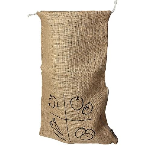 AH! Table! Burlap bag with organic cotton drawstring - Extra Large