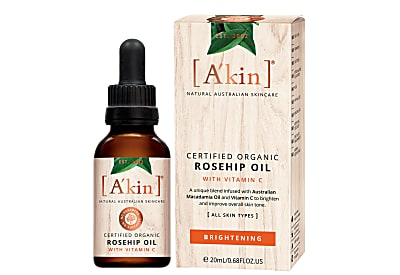 A'kin Certified Organic Brightening Rosehip Oil with Vitamin C