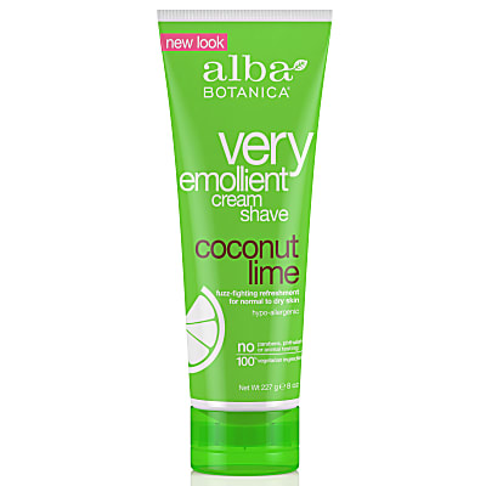 Alba Botanica Very Emollient Shave Cream - Coconut Lime