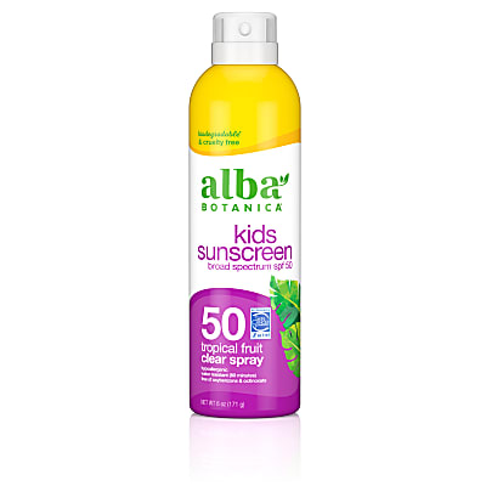 Alba Botanica Kids Sunscreen Tropical Fruit Clear Spray SPF50