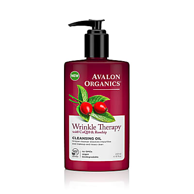 Avalon Organics Wrinkle Therapy Cleansing Oil with CoQ10 & Rosehip