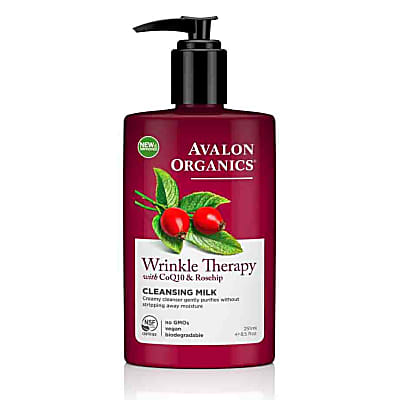 Avalon Organics Wrinkle Therapy Cleansing Milk with CoQ10 & Rosehip