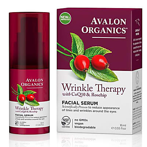 Avalon Organics Wrinkle Therapy Facial Serum with CoQ10 & Rosehip