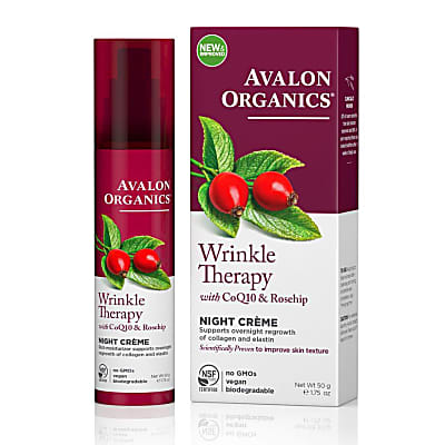 Avalon Organics Wrinkle Therapy Night Crème with CoQ10 & Rosehip