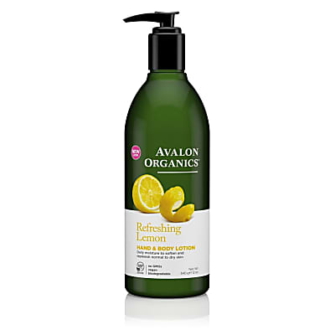 Avalon Organics Hand & Body Lotion - Refreshing Lemon
