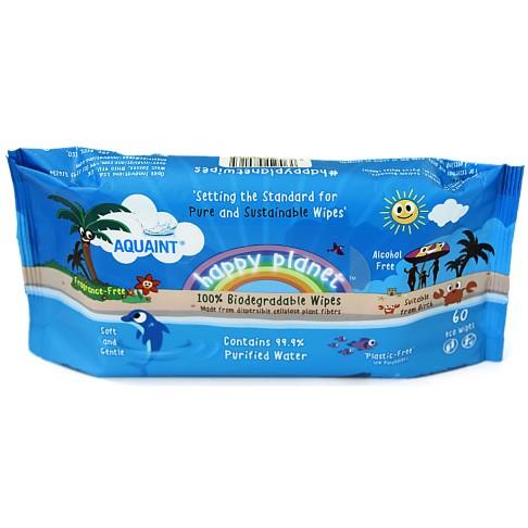 Aquaint Happy Planet Baby Wipes 100% biodegradable