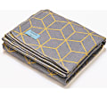 Atlantic Blankets Grey & Yellow Geometric Recycled Cotton Blanket