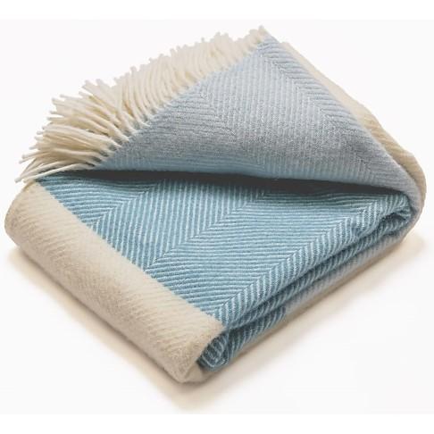 Atlantic Blankets 100% Wool Blanket - Noon Tides
