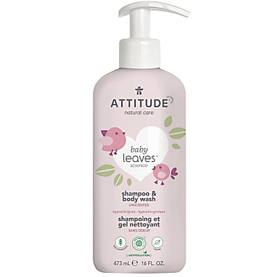 Attitude Baby Leaves 2 in 1 Shampoo & Body Wash - Fragrance Free
