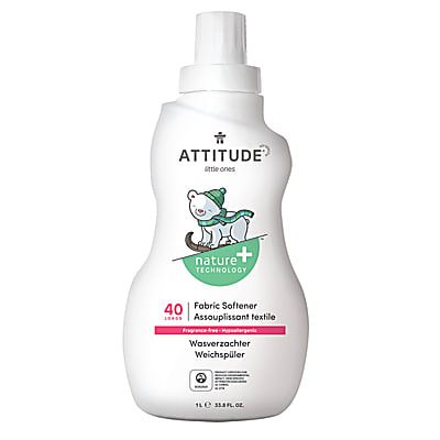 Attitude Little Ones Baby Fabric Softener - Fragrance Free (40 washes)
