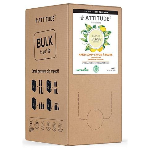 Attitude Bulk To Go 2L Super Leaves Hand Soap - Lemon Leaves