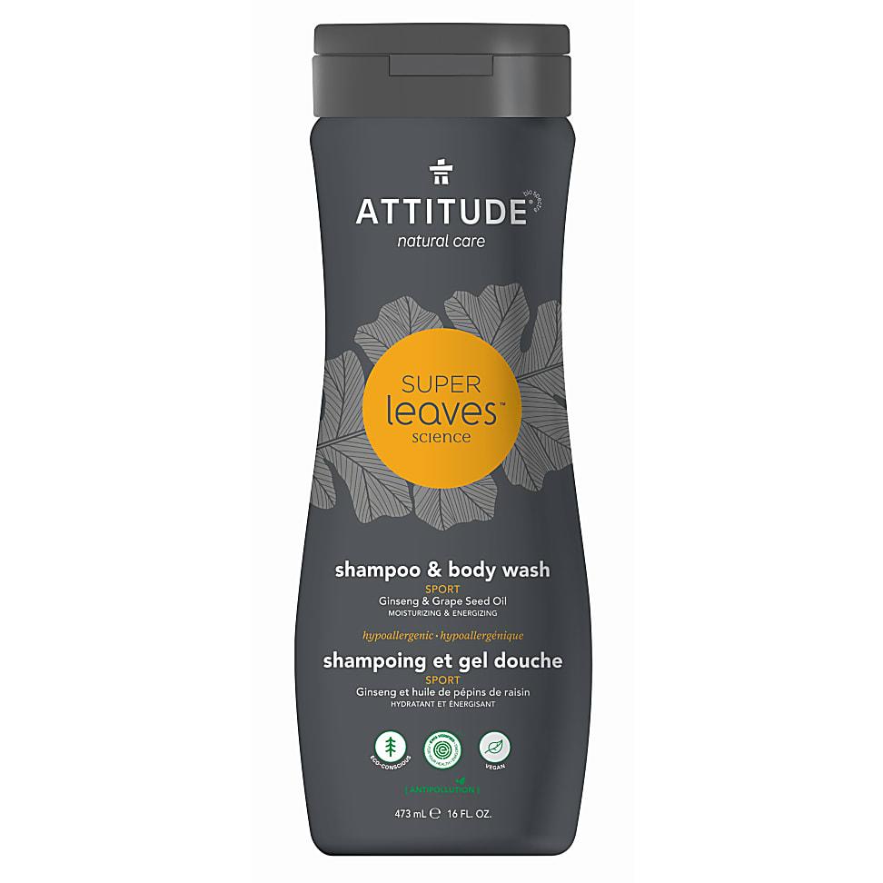 Attitude Super Leaves Shampoo & Bodywash 2 in 1 Sport
