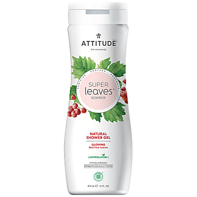 Attitude Super Leaves Natural Shower Gel - Glowing