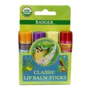 Badger Balm Classic Lipcare Kit Green (x 4 lip balms)