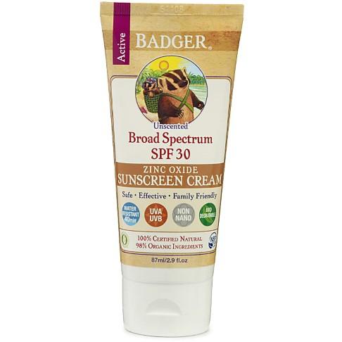 Badger Sunscreen Unscented - SPF30