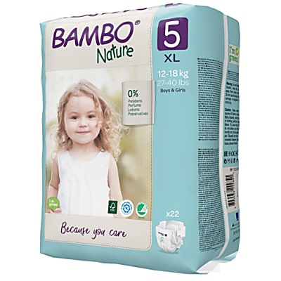 Bambo Nature Disposable Nappies - Junior - Size 5 - Pack of 27
