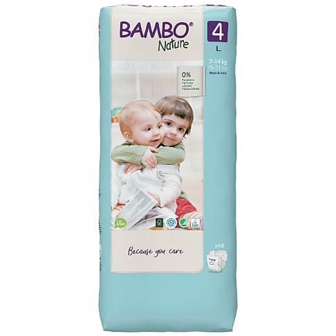 Bambo Nature Disposable Nappies - Maxi - Size 4 - Jumbo Pack of 48
