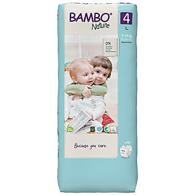 Bambo Nature Disposable Nappies - Maxi - Size 4 - Jumbo Pack of 48