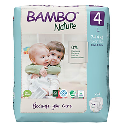 Bambo Nature Disposable Nappies - Maxi - Size 4 - Pack of 30