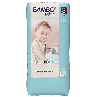 Bambo Nature Disposable Nappies - Midi - Size 3 - Jumbo Pack of 52