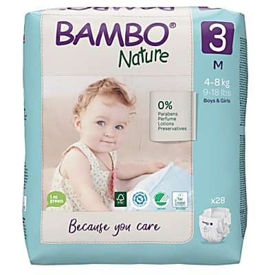 Bambo Nature Disposable Nappies - Midi - Size 3 - Pack of 33
