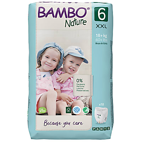 Bambo Nature Training Pants - XXL - Size 6 - Pack of 18
