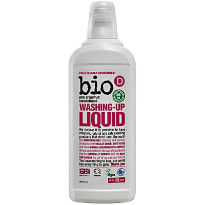 Bio-D Concentrated Washing-up Liquid with Pink Grapefruit - 750ml